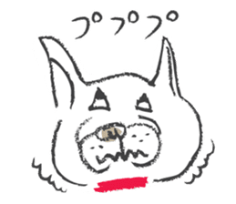 Funny faces of French bulldog SAKI sticker #1148230