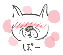 Funny faces of French bulldog SAKI sticker #1148236