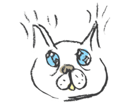 Funny faces of French bulldog SAKI sticker #1148240