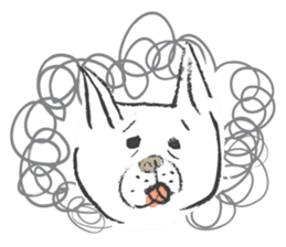 Funny faces of French bulldog SAKI sticker #1148242