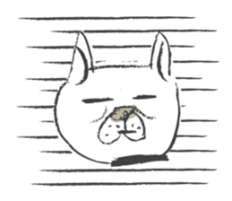 Funny faces of French bulldog SAKI sticker #1148247