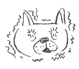 Funny faces of French bulldog SAKI sticker #1148249