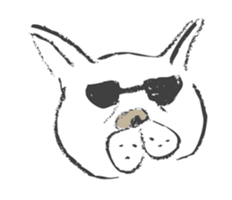 Funny faces of French bulldog SAKI sticker #1148250