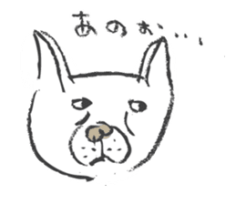Funny faces of French bulldog SAKI sticker #1148254