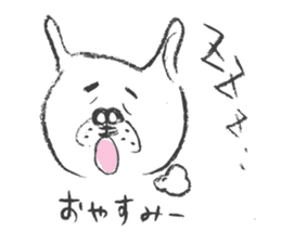 Funny faces of French bulldog SAKI sticker #1148259