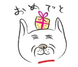 Funny faces of French bulldog SAKI sticker #1148261