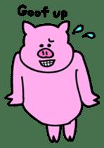 Mu-kun of piglets English version sticker #1148747