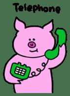 Mu-kun of piglets English version sticker #1148755