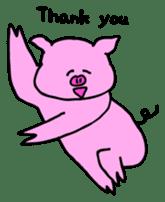 Mu-kun of piglets English version sticker #1148763
