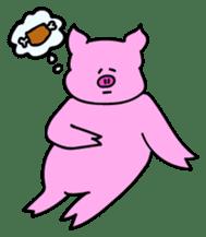 Mu-kun of piglets English version sticker #1148781