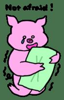 Mu-kun of piglets English version sticker #1148783