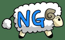 sheep sticker #1151918