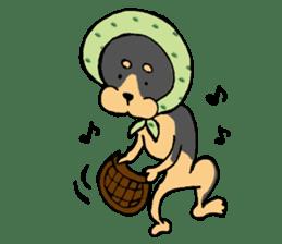 Scarf Minipin festival! sticker #1152914
