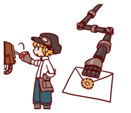 steampunk sticker #1153089