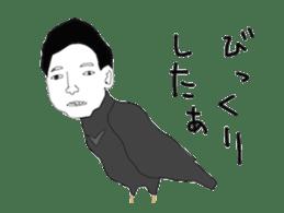 Poppo the crow sticker #1154030