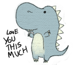 Pudding The Dinosaur sticker #1154671