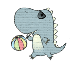 Pudding The Dinosaur sticker #1154673