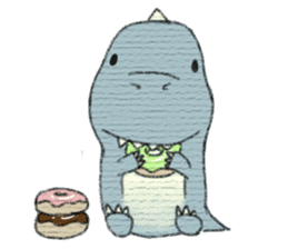 Pudding The Dinosaur sticker #1154689