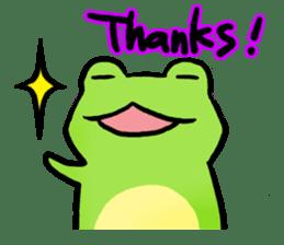 Carefree Frog(English) sticker #1155597