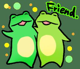 Carefree Frog(English) sticker #1155616
