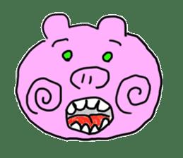 pig sticker sticker #1161196