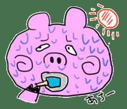 pig sticker sticker #1161209