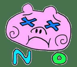 pig sticker sticker #1161212