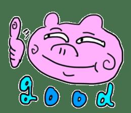 pig sticker sticker #1161213