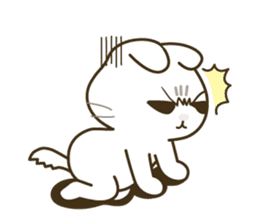 Bad tempered cat sticker #1162118