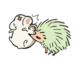 Furry hamster and his fluffy friends sticker #1162516