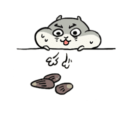 Furry hamster and his fluffy friends sticker #1162520