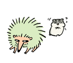 Furry hamster and his fluffy friends sticker #1162523
