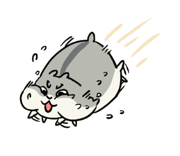Furry hamster and his fluffy friends sticker #1162524