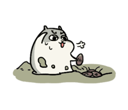 Furry hamster and his fluffy friends sticker #1162529