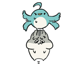 Furry hamster and his fluffy friends sticker #1162533