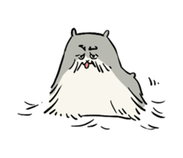 Furry hamster and his fluffy friends sticker #1162534