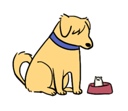 Furry hamster and his fluffy friends sticker #1162536