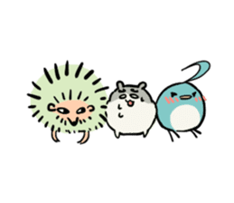 Furry hamster and his fluffy friends sticker #1162538