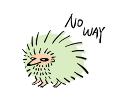 Furry hamster and his fluffy friends sticker #1162542