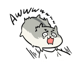 Furry hamster and his fluffy friends sticker #1162544