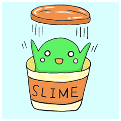 Slime sticker