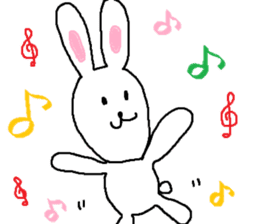 long long rabbit sticker #1163795