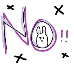 long long rabbit sticker #1163799