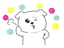 Xin Xin Maltese dog sticker #1166115