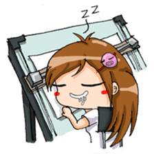 Tiny Architect Girl sticker #1167237