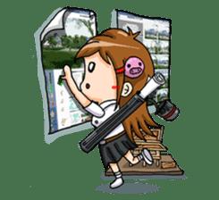 Tiny Architect Girl sticker #1167249