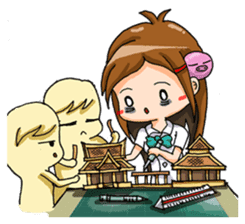 Tiny Architect Girl sticker #1167260