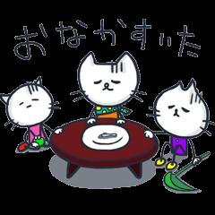 SECHIGARA-Three brothers cat sticker