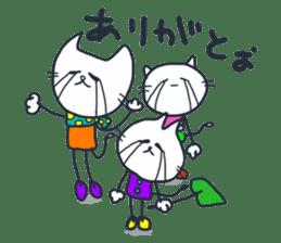 SECHIGARA-Three brothers cat sticker sticker #1169627