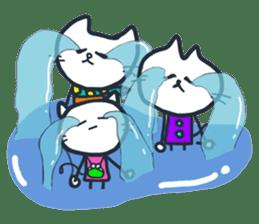 SECHIGARA-Three brothers cat sticker sticker #1169630